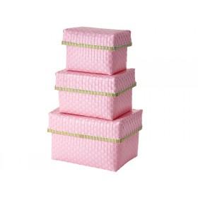 RICE storage boxes pink
