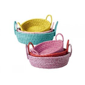 RICE Bread Basket Set with handles