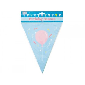 RICE Happy Birthday paper flag banner