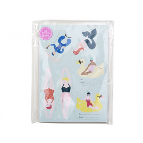 RICE 12 Gift Tags SWIMMER