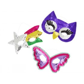 RICE kids sequin masks