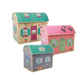 RICE Toy Basket HOUSES