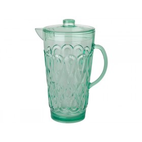 RICE Jug Swirly Embossed Acrylic in Pastel Green