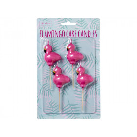RICE 4 Flamingo Shaped Cake Candles