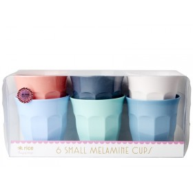 "RICE Small Melamine Cups ""Happy 21st!"" Colors"