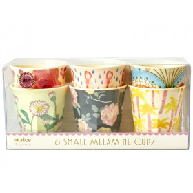 "RICE Small Melamine Cups ""Happy 21st!"""