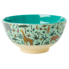 RICE Melamine Bowl JUNGLE green