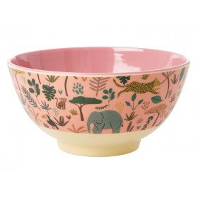 RICE Melamine Bowl JUNGLE rose