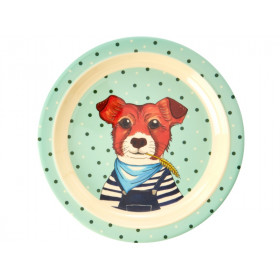 RICE Kids Melamine Plate DOG