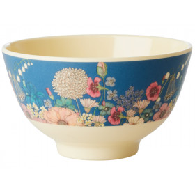 RICE Melamine Bowl FLOWER COLLAGE small