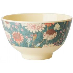 RICE Melamine Bowl AUTUMN FLOWERS small