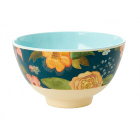 RICE Small Melamine Bowl SELMA'S FALL FLOWERS