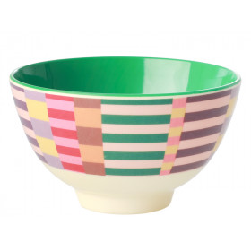RICE Melamine Bowl SUMMER STRIPES small