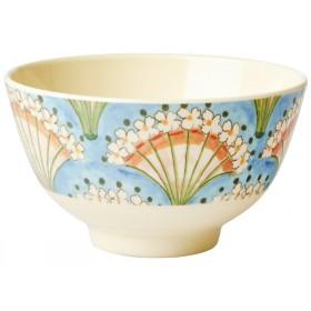 RICE Melamine Bowl FLOWER FAN small