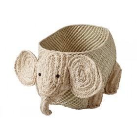 RICE Woven Storage Elephant
