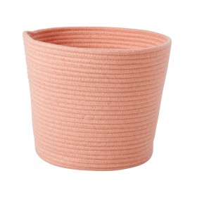 RICE storage basket round coral