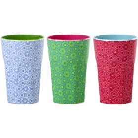 Melamine latte cup with marrakesh print by RICE