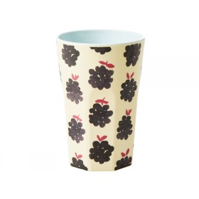 RICE Tall Melamine Cup BLACKBERRIES