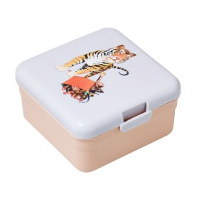 Small RICE kids lunch box tiger print