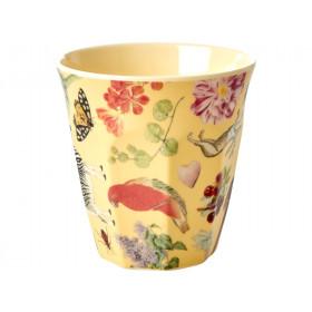 RICE Melamine Cup ART PRINT creme