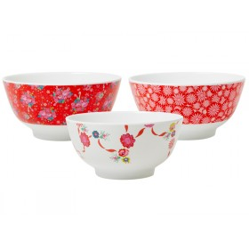 RICE melamine x-mas bowl