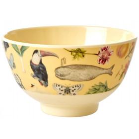 RICE Small Melamine Bowl ART PRINT creme