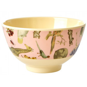 RICE Melamine Bowl ART PRINT pink