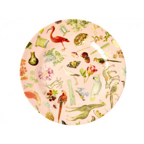 RICE Melamine Side Plate ART PRINT pink