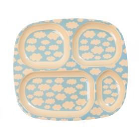 RICE 4 room plate cloud print
