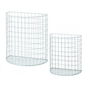 RICE half circle wire basket mint