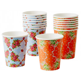 RICE paper cups vintage look