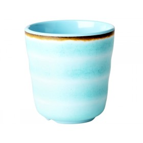 RICE Melamine Cup with Swirl AQUA