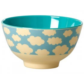 Small RICE melamine bowl cloud print