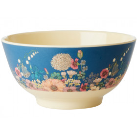 RICE Melamine Bowl FLOWER COLLAGE