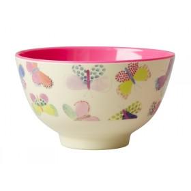 Small RICE melamine bowl butterflies