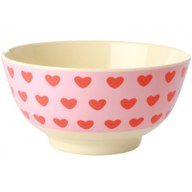 RICE Melamine Bowl SWEET HEARTS