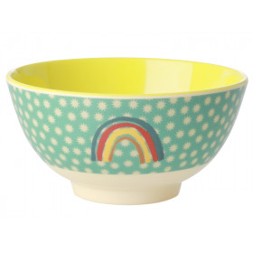 RICE Melamine Bowl RAINBOW & STARS