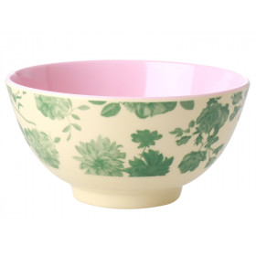 RICE Melamine Bowl GREEN ROSE