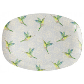 RICE Rectangular Plate HUMMINGBIRD