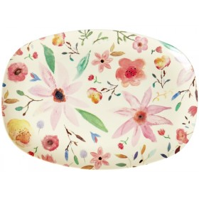 RICE Rectangular Plate SELMAS FLOWERS