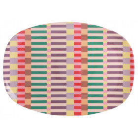 RICE Rectangular Plate SUMMER STRIPES