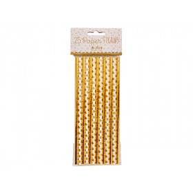 RICE 25 Paper Straws gold