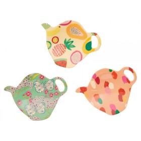 RICE tea bag plates 'Today is fun' prints