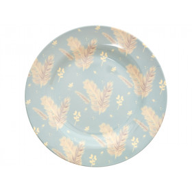RICE melamine side plate FEATHERS