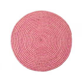 RICE Raffia Coaster Soft Pink