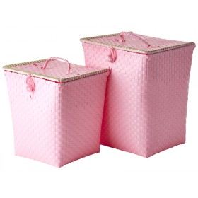 RICE laundry basket pink