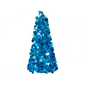 RICE sequin tree large blue
