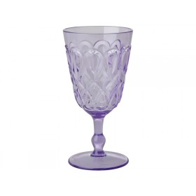 RICE Wine Glass in Swirly Embossed Acrylic Lavender