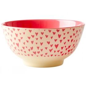 RICE Melamine Bowl HEARTS