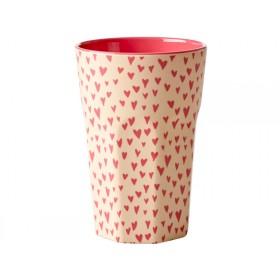 RICE Tall Melamine Cup HEARTS